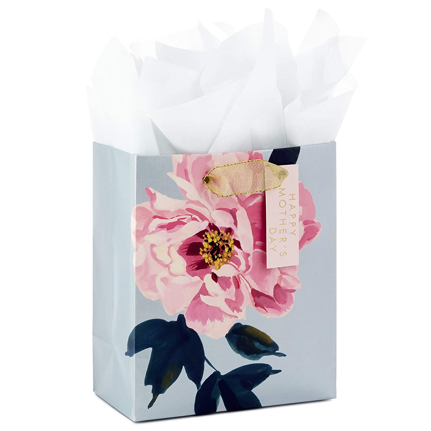 Hallmark Small Mother's Day Gift Bag with Tissue Paper (Peony)