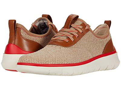 Cole Haan Generation Zerogrand Stitchlite (Birch/Amphora Knit/CH British Tan/Flame Scarlet/Birch) Men