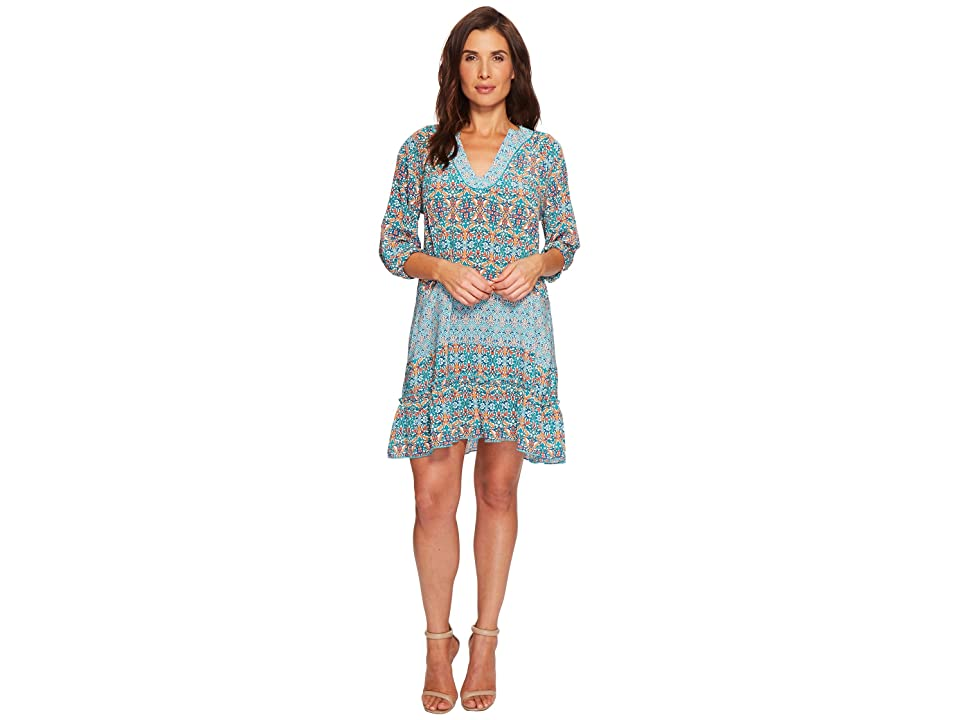 Tolani Dolly Tunic Dress (Turquoise) Women