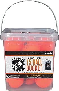 Franklin Sports Street Hockey Ball Buckets - NHL - 15 Piece - Orange - 2 5/8-Inch