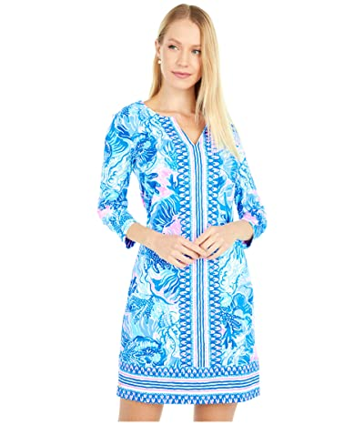 Lilly Pulitzer UPF 50+ Nadine Dress (Saltwater Blue Shade Seekers Engineered) Women