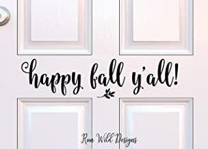 Happy Fall Y'all Decal Fall Porch Decor Happy Fall Decal Fall Decoration Entryway Vinyl Halloween Decor Seasonal Porch Decor