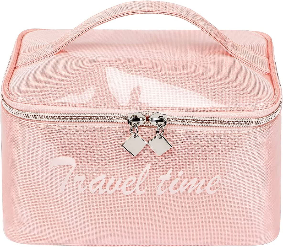 Makeup Bag FUNGOS Large Cosmetic Women Le Popular Cheap bargain overseas for PU