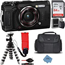 $429 » Olympus Tough TG-6 Digital Camera with Deluxe Accessory Bundle - Includes: SanDisk Ultra 64GB Memory Card + Flexible Tripod + Extreme Cloth + More (Black)