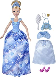 Disney Princess Style Surprise Cinderella Fashion Doll with 10 Fashions and Accessories, Hidden Surprises Toy for Girls 3 ...