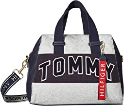Tommy Patches Canvas Coated Fleece Satchel