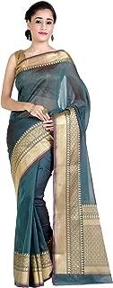 Chandrakala Women's Cotton Silk Blend Indian Ethnic Banarasi Saree with Unstitched Blouse Piece(1258)