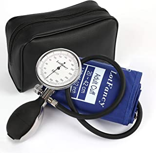 Professional Manual Blood Pressure Cuff - Adult Aneroid Sphygmomanometer with Durable Zipper Case, Blood Pressure Gauge with Small Adult Sized Cuff (7.8-16.5 Inches) for Health Monitoring