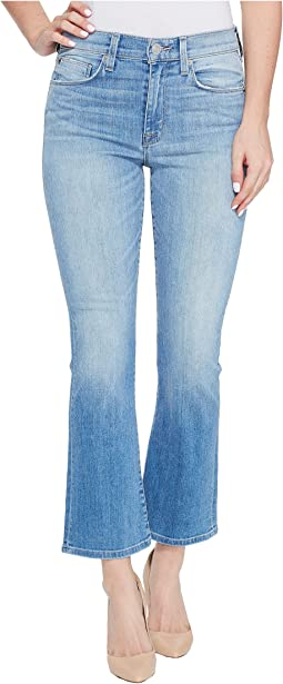 Brixx High-Rise Crop Flare Five-Pocket Jeans in Stunner