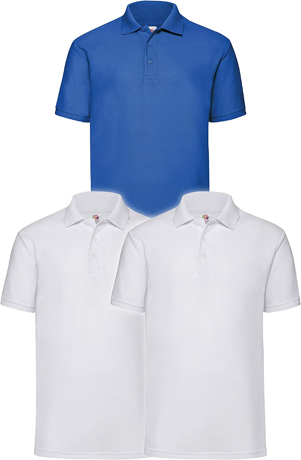 Pack of 3 Fruit of the Loom Mens Polo Shirt
