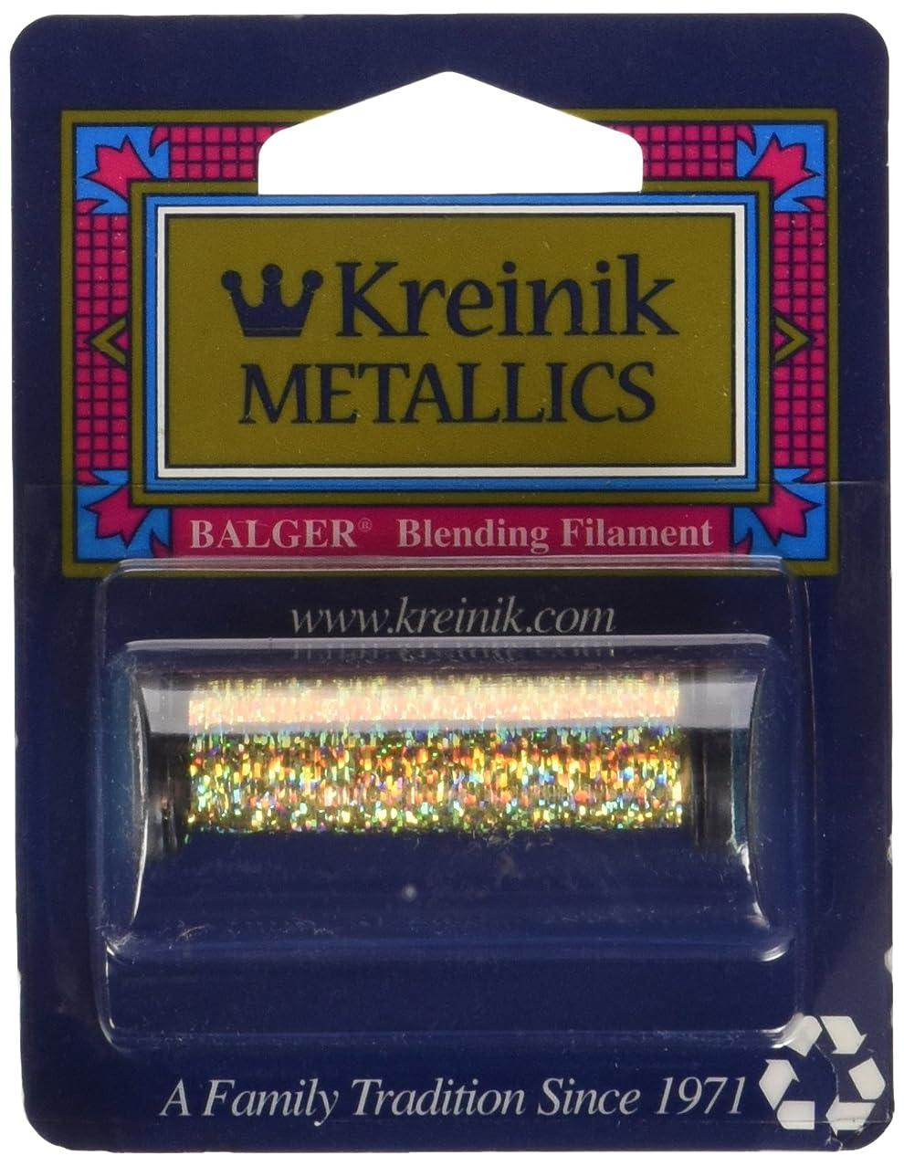 Kreinik Blending Filament 50m Metallic Thread for Sewing, 55-Yard, Chromo Gold
