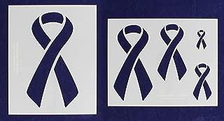 Awareness Ribbon Stencils - 2 Piece Set - 8 x 10 Inches