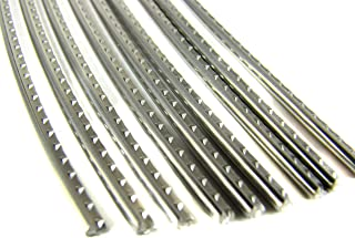 Jescar Stainless Steel fret wire for Guitars and More - Medium/Highest Gauge - Six Feet - Beautiful and Durable! (FW55090-S)