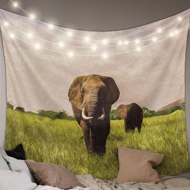 Outlet SALE KAROLA Wall Fashionable Tapestry Elephant Hanging Animal Wild