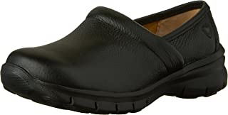 Nurse Mates Women's Libby Slip On,Black Full Grain Leather,US 9 W