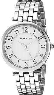 Anne Klein Women's AK/2701WTSV Bracelet Watch, Easy To Read Dial Silver-Tone