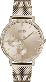 Hugo Boss Womens Quartz Watch, Analog Display and Stainless Steel Strap 1502519