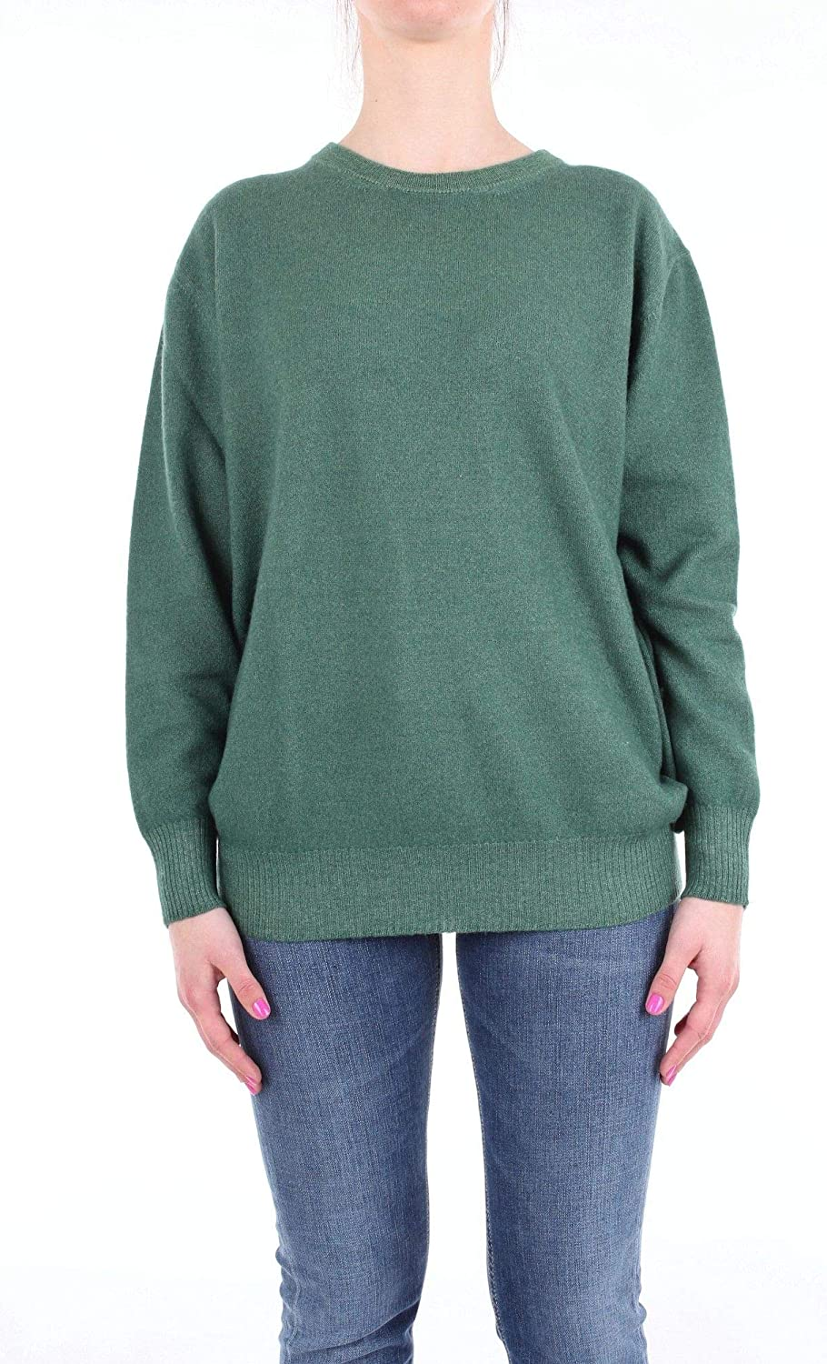 Altea Women's 1861500GREEN Green Cotton Sweater