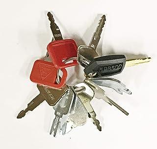 Keyman 10 Keys Heavy Equipment Construction Ignition Key Set