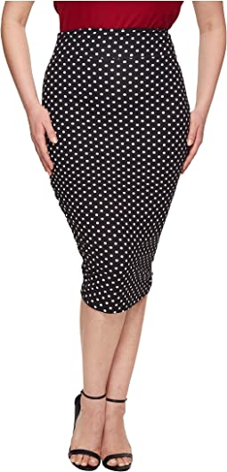 Unique Vintage - Plus Size Katharine Wiggle Skirt