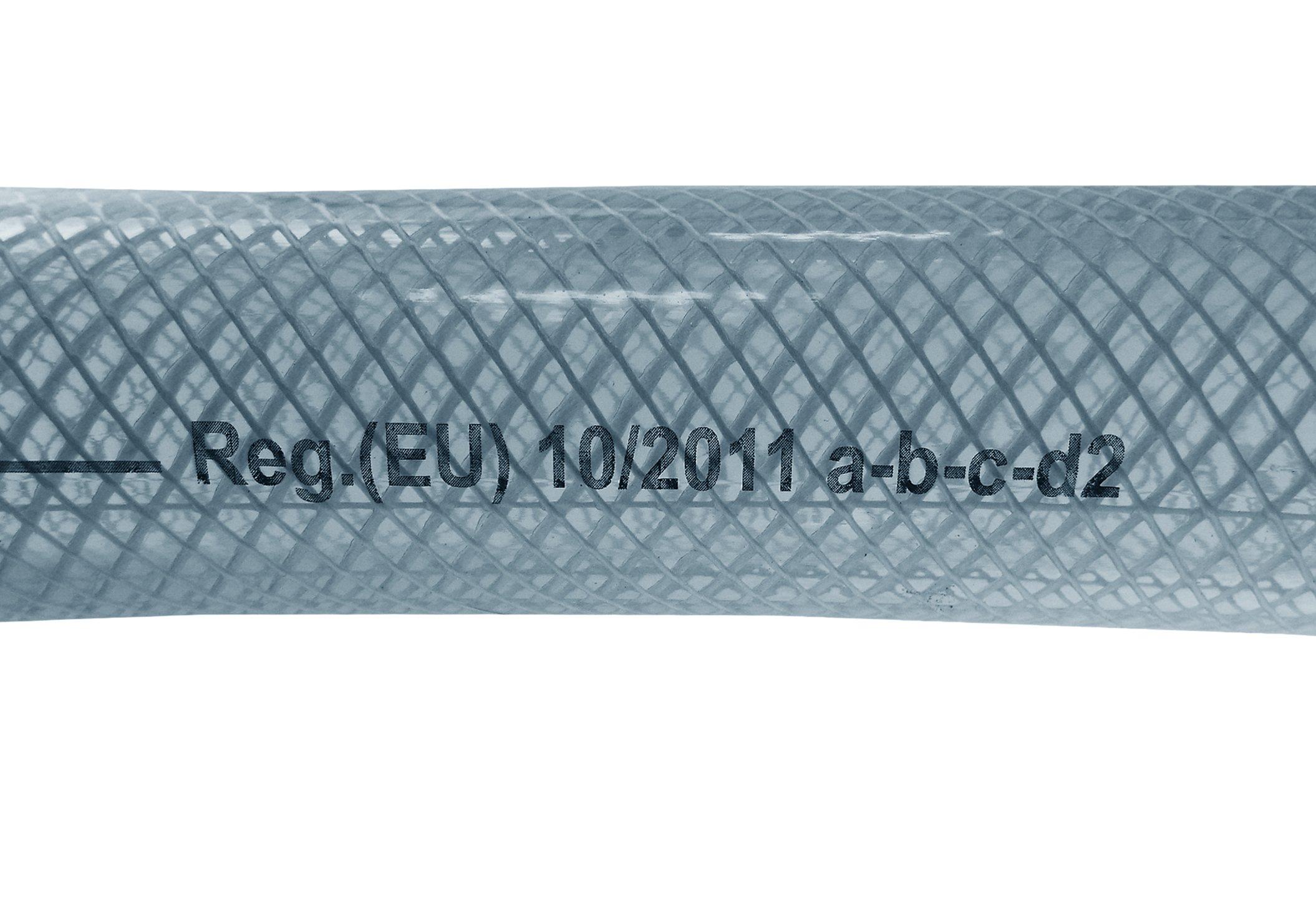 13mm 1.3cm 5 METROS TRANSPARENTE TRENZADO PVC FLEXIBLE TUBER/ÍA AEROL/ÍNEA MANGUERA AGUA
