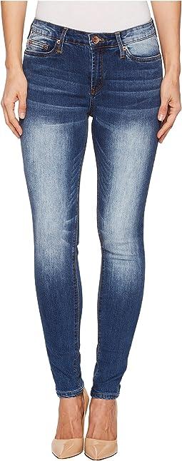 Light Wash Slim Leg Jeans in Light Blue Denim