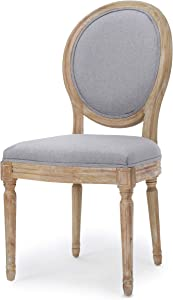 Christopher Knight Home Phinnaeus Fabric Dining Chair (Set Of 2), Light Gray