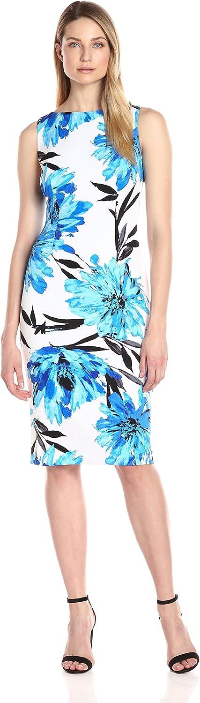 Maggy London Womens Royal Garden Floral Scuba Sheath Dress