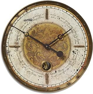 Uttermost 06006 Leonardo Script Wall Clock - 18