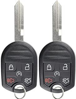 KeylessOption Keyless Entry Remote Control Fob Uncut Blank Ignition Car Key Remote Start for CWTWB1U793 (Pack of 2)