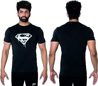 DK ACTIVE WEAR Men's Superman Gym Bodybuilding Muscle T- Shirt Weight-training Athletic half Sleeve Gym T-shirt Active wea...