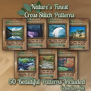 Nature's Finest Cross Stitch Patterns - Collection Six - 50 Beautiful Landscape/Scenery Cross Stitch Designs on CD