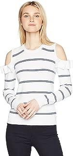 by BB Dakota Women's Eloisa Cold Shoulder Striped Sweater
