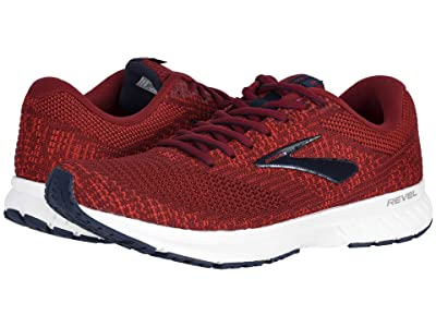 Brooks Revel 3 (Red/Biking Red/Peacoat) Men