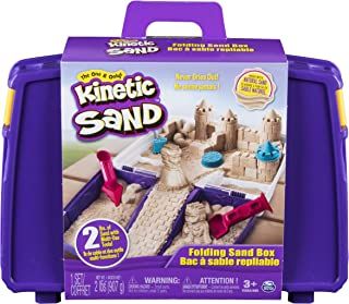 The One and Only Kinetic Sand, Folding Sand Box with 2lbs...