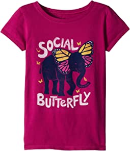 Social Butterfly Crusher Tee (Little Kids/Big Kids)