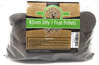 Root Naturally Jiffy-7 42mm Peat Pellets - 50 Count
