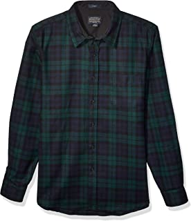 Men's Long Sleeve Button Front Fitted Lodge Shirt