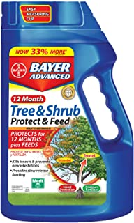 Bayer Advanced 12-Month Tree & Shrub - Protect & Feed Granules (Discontinued by Manufacturer),NET WT 4 LBS