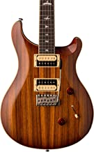 PRS Paul Reed Smith SE Custom 24 Zebrawood Guitar with Gig Bag, Vintage Sunburst