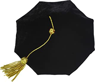 GraduationMall Graduation Doctoral Tam Velvet with Gold Bullion Tassel