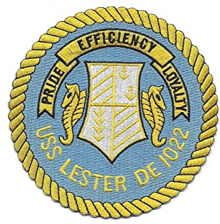 USS Lester DE-1022 Destroyer Escort Ship Patch