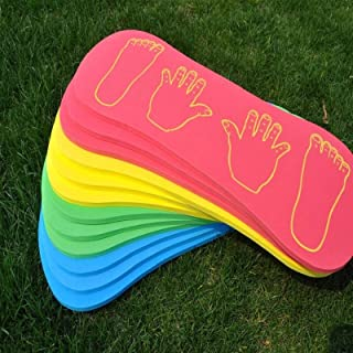 Toys&Hobbies 3 PCS Outdoor Sports Sense Training Equipment Foam Hands and Feet Cooperation Board Sports Game Toys for Chil...