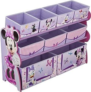 Delta Children Deluxe 9-Bin Toy Storage Organizer, Disney Minnie Mouse
