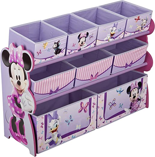 Kids' Furniture ✅Delta Children's Products Minnie Deluxe Multi Bin Organizer