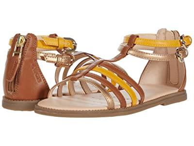 Geox Kids Sandal Karly 36 (Little Kid/Big Kid) (Caramel) Girl