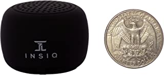 World's Smallest Portable Bluetooth Speaker - Great Audio Quality for its Size - 30+ Feet Range - Photo Selfie Button Answer Phone Calls Compact Compatible with Latest Phone Software (Black)