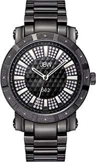 JBW Luxury Men's 562 12 Diamonds Pave Dial Watch
