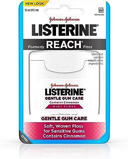 Listerine Gentle Gum Care Interdental Floss for Sensitive Gums, Oral Care, Mint, 50 Yards (Pack of 8)