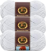 (3 Pack) Lion Brand Yarn 135-100R Hometown Yarn, New York White